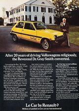 1979 Renault LeCar Dr. Gray-Smith Original Advertisement Print Car Ad J532