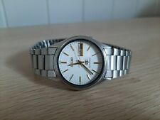 Seiko 5 Vintage 7009 Automatic White Face Mens Watch