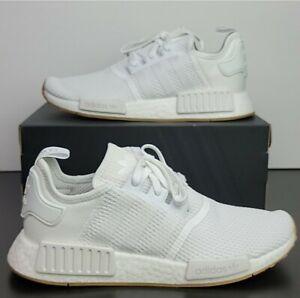 Adidas Originals NMD_R1 Boost White/Gum D96635 Running Shoes Men's US Size 10