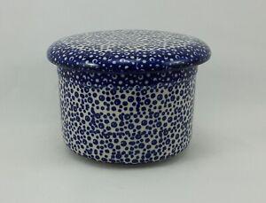 Bunzlauer Keramik Butterdose, Hermetic mit Wasserkühlung, französisch (M136-MAGM