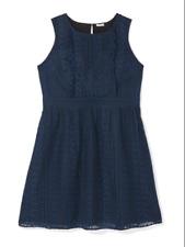 Dia & Co. East Adeline Plus Size 3X Lace Dress Sleeveless Savannah Overlay Blue