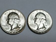 US Coins  1953 S & 1954 S Silver Quarters  25c  BU lot of 2