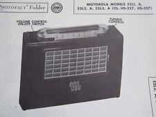 MOTOROLA 52L1, 52L1A, 52L2, 52L2A, 52L3, & 52L3A RADIO PHOTOFACT