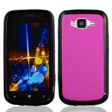 For Samsung Focus 2 i667 TPU Gel GUMMY Hard Skin Case Phone Cover Hot Pink Black