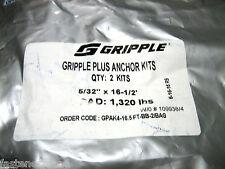 "(1) ** 2 PACK** GRIPPLE PLUS ANCHOR KITS GPAK4-16.5FT-BB-2/BAG - 5/32""x16-1/2"""