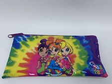 Vintage Lisa Frank Zipper Pencil Pouch Girls Friends Tie Dye Hippie 2001