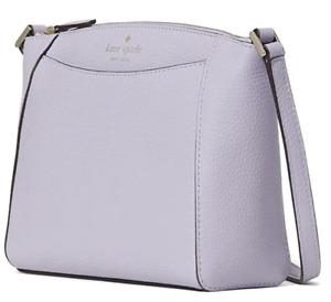 Kate Spade Monica Crossbody Leather Zip Top Purse Bag Frozenilla Purple New