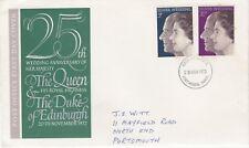 The Queen & Duke of Edinburgh - Silver Wedding Anniversary FDC - 1972