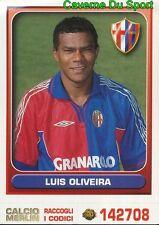 073 LUIS OLIVEIRA BELGIQUE BOLOGNA.FC FIGURINE STICKER CALCIO MERLIN 2000-2001