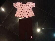 Juicy Couture & Generación. Rosa 2 Piece Algodón Set Con Logo Bebé Niña 6/