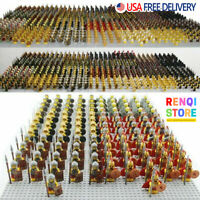 HOT 21PCS CUSTOM Gondor Knight Minifigures Military Army Soldier Figure Minifigs