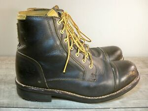 Timberland Distressed Leather Waterproof Cap Toe Dress Work Boots Mens Size 10.5