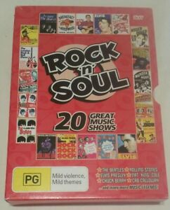 Rock 'n' Soul 20 Great Music Shows [4 Double-Sided DVDs] (Total of 1345 Minutes)