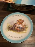 "Vintage 1972 ""Gigi"" American Greetings Collectors Plate Friends Are Like Flowers"