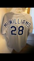 MITCH WILLIAMS GAME WORN TEXAS RANGERS ROOKIE JERSEY.