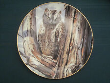 Scops Owl collector plate Perfect Disguise Trevor Boyer Owls Danbury Mint