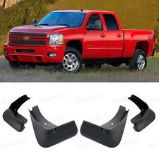 4Pcs Mud Flaps Splash Guard Mudguard Fender for 2007-2013 Chevy Silverado Pickup