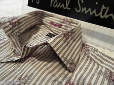 "PAUL SMITH Mens Shirt 🌍 Size 15"" (CHEST 40"") 🌎RRP £95+ 🌏 FANTASTICALLY FLORAL"