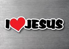 I Love Jesus sticker quality 7 year water & fade proof vinyl laptop car