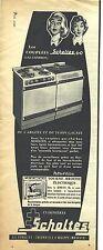 PUBLICITE ADVERTISING   1952   SCHOLTES cuisinière gaz charbon