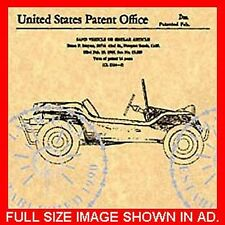 US Patent for the MEYERS MANX DUNE BUGGY #254