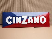 CINZANO Emailschild ECHT Emaille Schild 20 x 60 cm Enamel sign