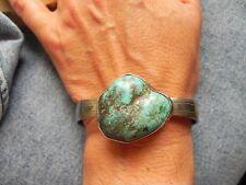 Turquoise & Sterling Silver Bracelet w Spoon handles Navajo