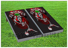 Vinyl Wraps Cornhole Boards Decal Skeleton Death Bag Toss Game Stickers 452