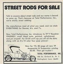 1975 Total Performance Model T Bucket Hot Rod Ad