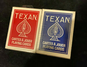 Texan No '45 Palmetto Red & Blue Playing Card Decks w/ OH Bicycle stock & finish