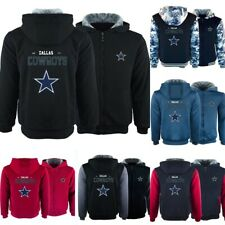 Dallas Cowboys Football Thicken Hoodie Winter Fleece Sweatshirt Warm Jacket Coat