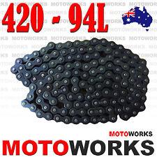420 - 94 Links Chain + Joiner Link ATV QUAD Bike Gokart Buggy Dirt Pit trail