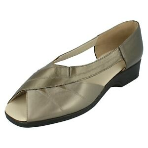 Ladies Equity Slip On Peep Toe Summer Shoes Sherry