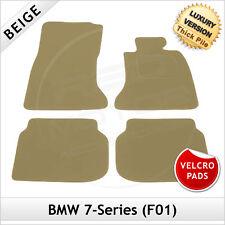 BMW 7-Series F01 2008-2015 Velcro Pads Tailored LUXURY 1300g Carpet Mats BEIGE