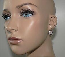 Melinda Maria 14K Gold Plated Jade Drop Moonstone White CZ Pave Earrings $172