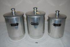 C191 3 anciens pots de cuisine - aluminium - rare - chicoree - cafe