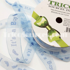 "Trico Baby Shower Ribbon It's a Boy/Girl Organza Ribbon 5/8""(16mm) x 50YDS-B4044"