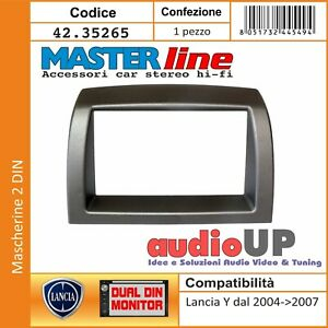 MASCHERINA AUTORADIO ADATTATORE 2 DIN LANCIA Y 2003->2007. ANTRACITE
