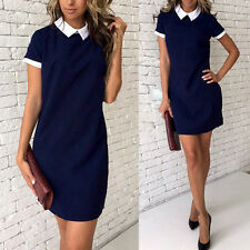 Fashion Women Summer Short Sleeve Bodycon Slim Party Evening Cocktail Mini Dress