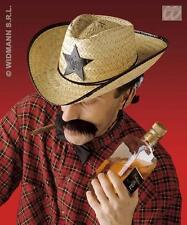 Paglia Cowboy Cappello Stile Western Costume Sceriffo Festival Divertente