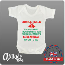Christmas Baby Grows-Funny Baby Grows-Jingle Bells Daddy Smells-Fun Xmas Gifts