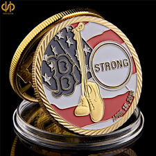 2013 Boston Marathon Bombings USA Statue of Liberty Gold Challenge Coin Collect