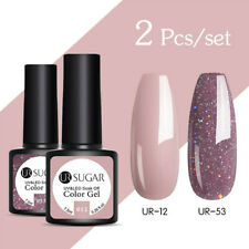 UR SUGAR 2 Bottiglie 7.5ml Smalto Gel UV per Unghie Nail UV Gel Polish Soak Off