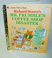 A Little Golden Book Richard Scarry's Mr. Frumbles's Coffee Shop Disaster 1995