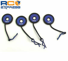 Hot Racing Body Clips w/ Rubber Leash and Body Washer (Blue) BWP133B06