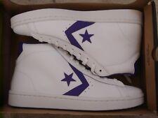 NIB Converse Pro Leather 76 Mid White/Candy Grape 156692C US Mens 9