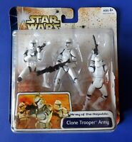 STAR WARS Army Of The Republic CLONE TROOPER ARMY 3 PACK ACTION FIGURE TCW ~ NEW