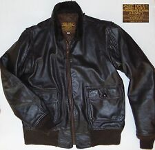US NAVY Type G-1 Sheepskin Leather Flyer's Jacket Brown Size Men's LT USA EUC