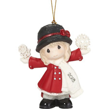 """Precious Moments""""have a Magical Holiday Dated 2018 Girl Ornament Multico A8"""