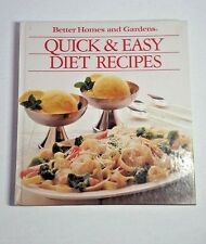 Quick & Easy Diet Recipes Better Homes And Gardens Hardcover Colorful Photos